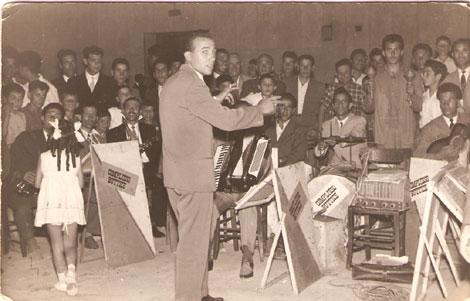 Le chef d'orchestre BUTTICE' Matteo a Casteltermini (Italy)